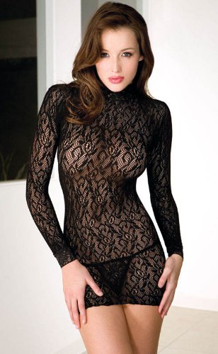 seamless long sleeves turtle neck mini