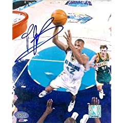 P.J. Brown Autographed Hand Signed 8x10 Photo (New Orleans Hornets)