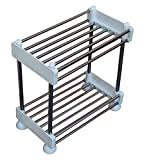 Pindia 2 Tier Stainless Steel Wall Mount Storage Rack