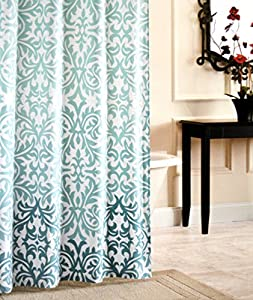Amazon Com Nicole Miller Fabric Shower Curtain Damask
