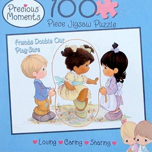Precious Moments 100pc. Puzzle-Friends Double Our Play-Sure - 1