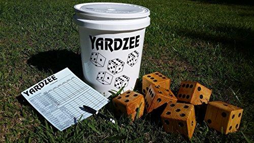 Giant Yardzee - Farkle - Cootie - Lawn Yahtzee - Yard Yahtzee - Family Games - Summer Fun - Gift - Barbeque - Weddings - Outdoor Yard Dice