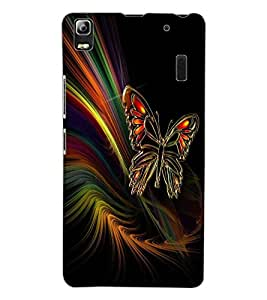 ColourCraft Lovely Butterfly Design Back Case Cover for LENOVO A7000