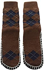 Graceway Adult Carpet Socks (Brown and Blue)
