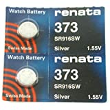 FOSSIL Watches:#373 Renata Watch Batteries 2Pcs
