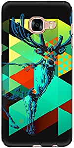 The Racoon Grip Deer Graphing hard plastic printed back case/cover for Samsung Galaxy C5