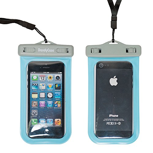 Dandycase Slim Waterproof Case For Apple Iphone 5S / 5 / 5C & Apple Ipod Touch 5 (Will Not Fit Other Smartphones) - Ipx8 Certified To 100 Feet [Retail Packaging By Dandycase] (Blue) front-989467