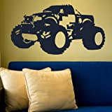 Monstor Truck -Wall Decal / Large Removable Transfer / Huge Art Decor NE94