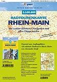 Radtourenkarte Rhein-Main 1:100.000: Mit exakter Kilometer-Navigation und allen Etappenzielen von »33 schönste Radtouren Rhein-Main«