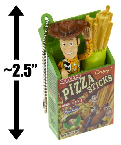 "Woody & Pizza Sticks (~2.5""): Toy Story / Pixar ""Pop Snack"" Mascot Mini-Figure Charm - Not Edible [#6] (Japanese Import) front-1015918"