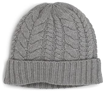 Jack Spade Men's Maple Cable Watch Cap, Washed Grey, One Size