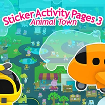 Sticker Activity Pages 3: Animal Town [Download]