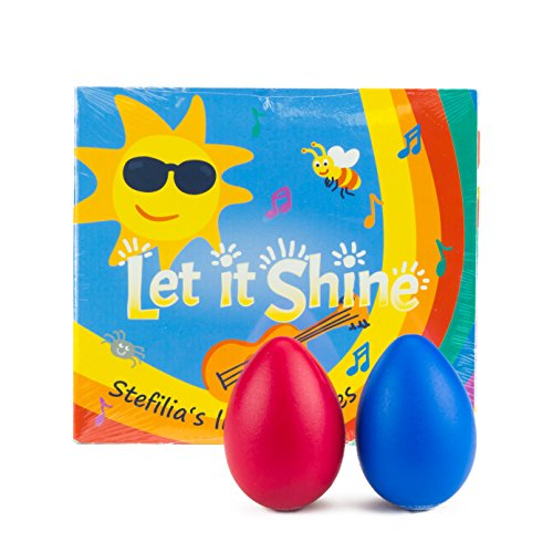 Children's GIFT SET Let it Shine CD + 2 Colorful Egg Shakers + gift bag, Fun Music for Little Ones - Educate, Stimulate and Inspire Baby, Perfect Stocking Stuffer -Kids Music Parents LOVE, guaranteed