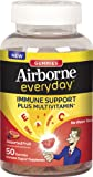 Airborne Everyday Vitamin C Immune Support Supplement and Multivitamin, Gummies, Assorted Fruit Flavor, 50 Count