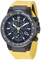 Salvatore Ferragamo Men's F55LCQ6809 SR05 F-80 Ceramic Tachymeter Bezel Sapphire Crystal Yellow Rubber Chronograph Date Watch from Salvatore Ferragamo
