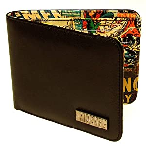 Marvel Comics Wallet (Black Outside with Retro Print Inside)
