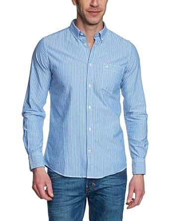 TOM TAILOR Herren Regular Fit Freizeithemd Floyd stripe package shirt/403, Gr. Large, Blau (navy eclipse)