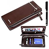 Ranboo Multifunction Leather Cellphone Man Wallet Case With Zippers For Iphone 6 Plus Iphone 5 5s 5c 4s Samsung...