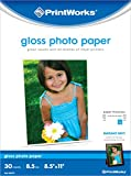 Printworks Photo Paper, Gloss, 8.5in x 11in, 30 Sheets in Pack, 00470