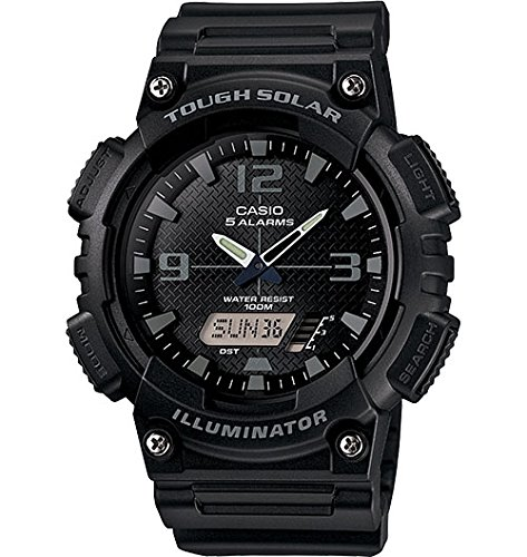 Casio Men's AQ-S810W-1A2VCF Tough Solar Analog-Digital Display Quartz Black Watch