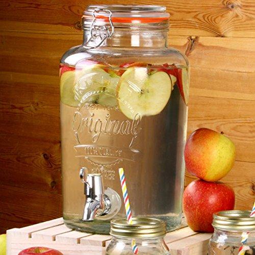 Kilner - Fontaine à Boissons En Verre 5 L - Pour Sangria, Punch ou Cocktails