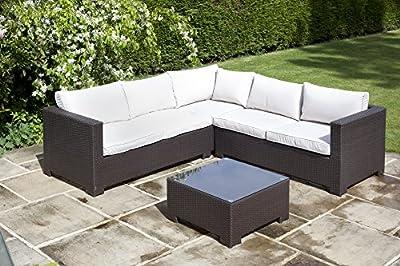 BillyOh Rosario Flat Weave Rattan Corner Sofa Set - Includes Cushions