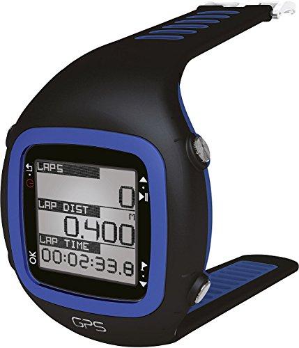 Millenium - Reloj deportivo, con GPS, pulsómetro y correa-pulsómetro para pecho, color negro y azul