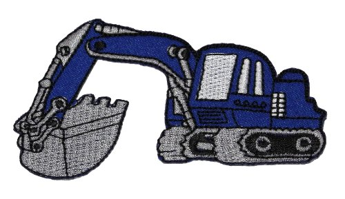 Backhoe Rear Actor Back Actor Tractor Blue Diy Applique Embroidered Sew Iron On Patch Bh-001