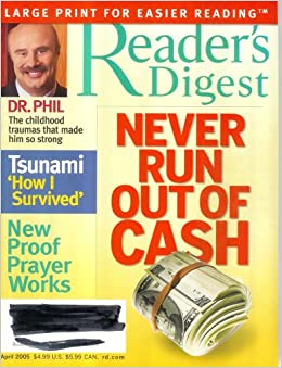 Readers digest large print books