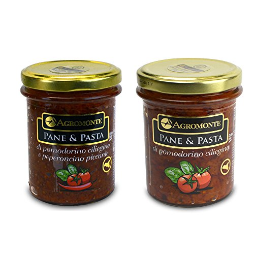 Agromonte Variety Pane and Pasta - Cherry Tomato and Chili Pepper Certified Kosher 14.96 oz (Hcg Tomato Sauce compare prices)
