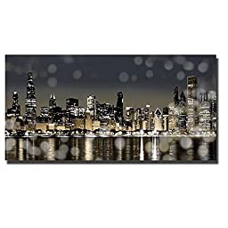 Chicago Nights I by Kate Carrigan Oversize Custom Gallery-Wrapped Canvas Giclee Art (Ready to Hang)