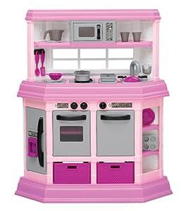 American plastic toy deluxe custom kitchen for Kitchen set toys amazon