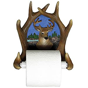 Decorative deer antler toilet paper holder in Animal toilet paper holder