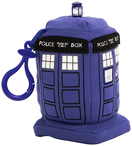 Doctor Who 4-inch Mini Tardis Talking Plush ClipOn (Blue)