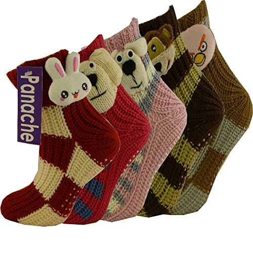 3-paires-de-chaussettes-thermique-pour-femme-chaussons-rayures-prehenseur-antiderapante-assortis