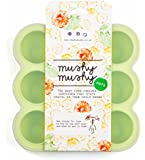 Mushy Mushy Baby Food Storage, 9 Easy To Remove Pots, Durable Silicone Freezer Trays with Recipe eBook, Great Container for weaning, Lifetime Guarantee