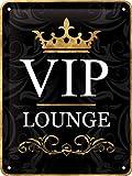 VIP LOUNGE - Tin Sign 15 x 20 cm