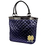 Notre Dame Quilted Tote, Navy