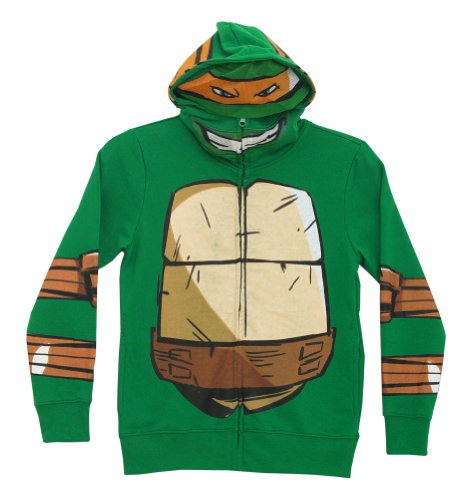 Teenage Mutant Ninja Turtles Mike Zip-Up Mask Big Boys Costume Hoodie Sweatshirt