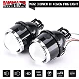 Universal 3.0 inch Waterproof Fog Lamp Bi-xenon Fog lights Projector Lens Hi/Low For Car Motorcycle
