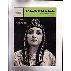 The Firstborn- NYC Broadway Playbill 1958- Coronet Theatre- Katharine Cornell Anthony Quayle Christopher Fry