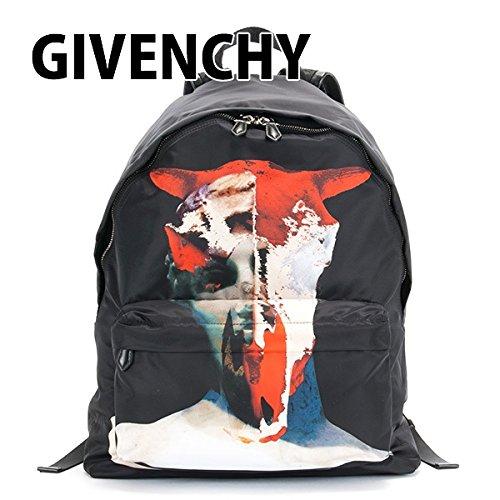 ジバンシー GIVENCHY リュックサック メンズ リュック デイバッグ ブル プリント スタースタッズ バックパック ブラック BJ05760383 960 BLACK