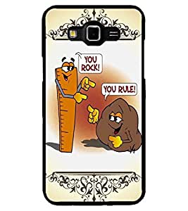 ColourCraft Funny Rock-Rule Design Back Case Cover for SAMSUNG GALAXY GRAND 3