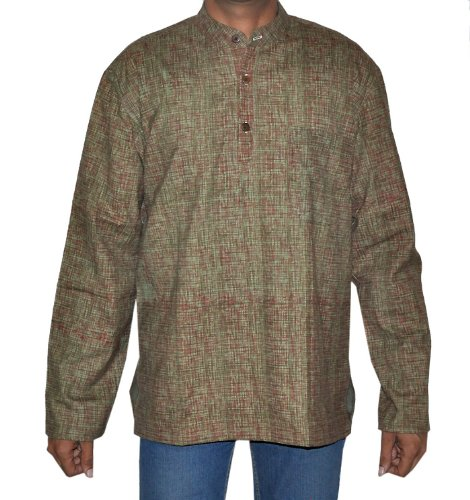 Casual Wear Indian Khadi Mens Short Kurta Fabric For Winter & Summers Size M