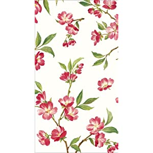 Caspari Cherry Blossums Paper Guest Towels Packages, 15-Per Package, Set of 2