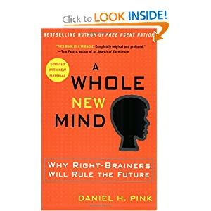 Book cover, A Whole New Mind by Daniel Pink