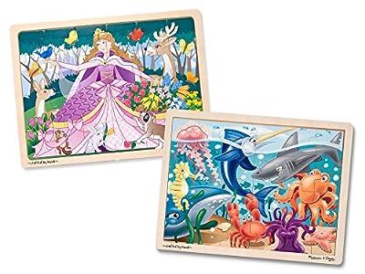 Melissa & Doug Girls Under The Sea & Woodland Princess Jigsaw Puzzle Bundle (24 Piece) from Melissa and Doug