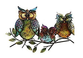 Gift Craft Iron Owl Wall Plaque by Gift Craft
