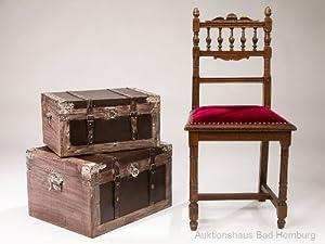 2x grosse truhe holz koffer kiste box schatztruhe truhen nostalgie antik stil k che. Black Bedroom Furniture Sets. Home Design Ideas