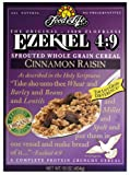 510jzWej2aL. SL160  Food For Life Ezekiel 4:9 Organic Sprouted Grain Cereal, Cinnamon Raisin, 16 Ounce Boxes (Pack of 6)